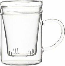 Chiswick Tea Co Teesieb-Glas, mit Deckel, 350ml