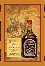Chivas regal 12 jahre alt scotch whisky reklame blecshchild
