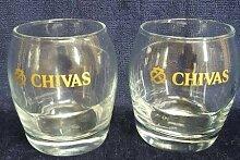 Chivas Regal Scotch Whisky Nosing-Glas Glas | Set von 2Gläser