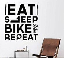 CHJKMN Cartoon essen schlaf fahrrad Aufkleber