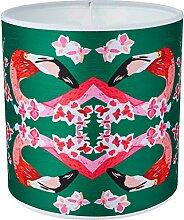 Chloe Croft London Flamingos und Blumen Abstrakt
