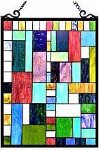 Chloe Lighting Picasso Tiffany-Glas-Fensterpaneel,