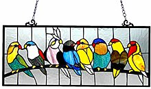 Chloe Lighting Tiffany-Glas mit Vögeln, 25,5 x