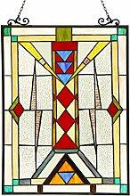 Chloe Lighting Warren Tiffany-Glas-Fensterplatte,