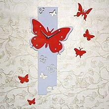 CHLWW Personalisierte Schmetterling Kreativ Uhr Art Und Weise Acryl Wanduhr Kunst Uhren Wohnzimmer Dekorativ Quarz-Wanduhr