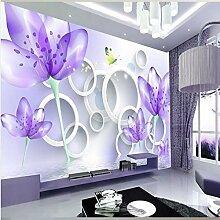 Chlwx 200cmX150cm (78.7inX55.1in) Luxuriöse, Moderne Tapete 3D Wallpaper 3D Wand Hintergrundbild Wallpaper Tapeten Kontakt Wand Blumen