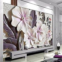 Chlwx 200cmX150cm (78.7inX55.77in) Moderner Luxus Foto Wandbild 3D Wallpaper Wohnzimmer Tv-Kulisse Tapete Von China Blume