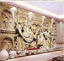 Chlwx 200cmX150cm (78.7inX55.79in) 3D-Angepasste Wallpaper 3D Hintergrundbild Im Europäischen Stil Relief Art Hintergrund Leben 3D Wallpaper Zimmer Moderne Tapete