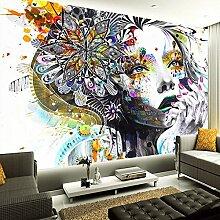 Chlwx 300cmX200cm (118.1inX78.92in) Wandbild Tapeten Farbe Handgemalte Abstrakte Schönheit Kunst Graffiti Hintergrund Foto Tapete Wohnzimmer Schlafzimmer Home Decor