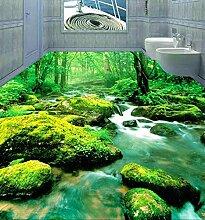 Chlwx 350cmX240cm (137.8inX94.127in) 3D-Pvc Vinyl Fußboden 3D Wandbilder Tapeten Boden Wasserfeste Selbstklebende Tapete 3D, Aufkleber