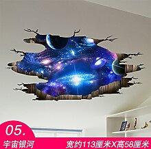 Chlwx 3D 3D-Poster Wandaufkleber Schlafzimmer