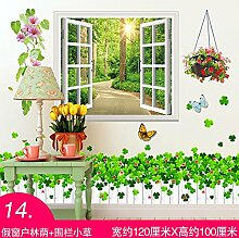 Chlwx 3D Cartoon Wall Sticker Malerei Junge Kinder Zimmer Zimmer Wanddekoration Tapete Süß, Selbsthaftend, 120 X 100 Cm