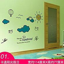 Chlwx 3D Cartoon Wall Sticker Malerei Jungen Und
