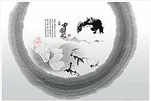 Chlwx 3D Fototapete Custom 3D Wandbilder Tapeten Für Wände 3D-Chinesischen Wind Hintergrund Tapete Wohnzimmer Tv-Wand Dekoration 200Cmx150Cm