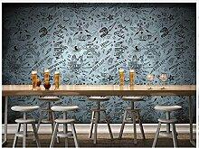 Chlwx 3D Wallpaper 3D Wandbilder Tapeten Für Wände 3D Restaurant Bar Ktv Hintergrund Wand Wiederherstellen Der Alten Wege Wand Dekoration 300Cmx200Cm