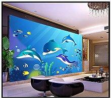 Chlwx 3D-Wandbilder Tapeten Benutzerdefinierte Bild Wandbild Tapete Hd Unterwasserwelt Hintergrund Wandbild Schlafzimmer Hintergrund Wand Dekor 350Cmx240Cm