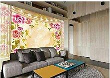 Chlwx 400cmX280cm (157.5inX110.137in) 3D Wohnzimmer Badezimmer Tapeten Tapete Für Malerei 3D-Marmor Rose Wallpaper 3D Fototapete