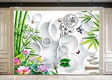 Chlwx Custom 3D Wallpaper Für Wände 3D Wandbilder Tapeten Chinesischen Landschaft Tapeten Blumen Landschaft Wandbild Hintergrund Wand Dekor 400Cmx280Cm
