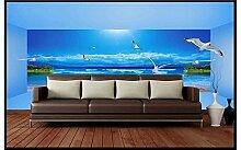 Chlwx Custom 3D Wallpaper Murals Tapete 3D-Strand Hintergrund Wandmalereien Schönheit Wandbild Tapeten Home Decoration 200Cmx150Cm