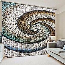 Chlwx Home Dekoration Schlafzimmer Gardinen Stein