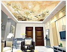 Chlwx Maßgeschneiderte 3D Fototapete 3D-Decke Tapeten Wandmalereien Lotus Wandbilder 3D Raum Tapete 400Cmx280Cm