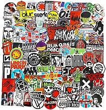 CHNLML Coole Aufkleber, Punk-Rock-Band Aufkleber,