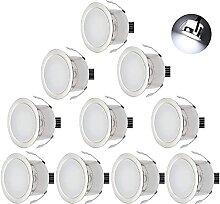 CHNXU 10er Set LED Einbaustrahler Kaltes Weiß