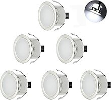 CHNXU 6er Set LED Einbaustrahler Kaltes Weiß