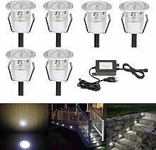 CHNXU LED Einbaustrahler Ø30mm 0.6W Treppen