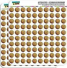 Chocolate Chip Cookie 1,3cm (1,3cm) Scrapbooking, Aufkleber