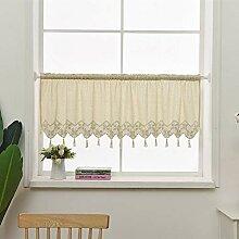 choicehot Küche Vorhang Baumwolle Leinen Quaste