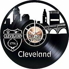 choma Cleveland Vinyl Schallplatte Wanduhr -