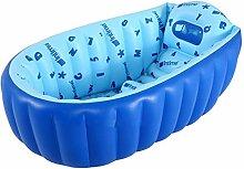 CHONGQI Faltbare aufblasbare dicke warme Erwachsene Badewanne Kinder aufblasbare Pool Rosa Baby Badewanne, blue, 98cm