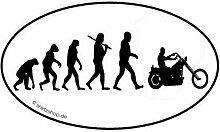 CHOPPER biker motorrad EVOLUTION Aufkleber