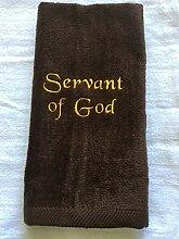 Christanwear Handtuch, Bestickt mit Diener Gottes