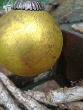 Christbaumkugel aus Glas, Markov, antikgold
