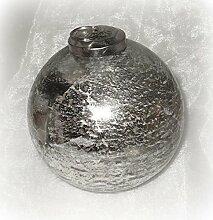Christbaumkugel aus Glas silber 10 cm 4er-Se