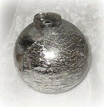 Christbaumkugel aus Glas silber 10 cm 4er-Set