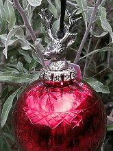 Christbaumkugel Dorlies Streifen, rot