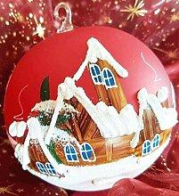 Christbaumkugel für Weihnachten Handbemalt und