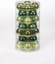 Christbaumkugeln GLAS 45mm, 28 Stk. Dose, Farbe:Christmas Green ( grün )