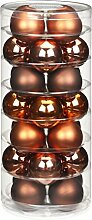 Christbaumkugeln GLAS 45mm, 28 Stk. Dose, Farbe:Copper-Brown ( braun )