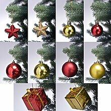 Christbaumschmuck in Rot / Gold Weihnachtskugeln
