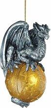 Christbaumschmuck - Schutz der gotischen Portal Celtic Dragon-Feiertags-Verzierung: Set von drei - Drachen-Statue