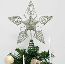 Baum Baumspitze Spitze Holz Erzgebirge NEU Weihnachtsbaumspitze Weihnachten Christbaumspitze 24cm