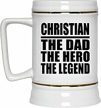Christian The Dad The Hero The Legend - Beer Stein