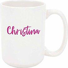 Christina 11oz Kaffee oder Teebecher Weiß Keramik