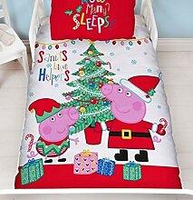 CHRISTMAS BEDDING Peppa Pig Bettwäsche-Set für