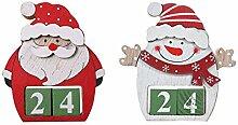 Christmas Countdown Adventskalender Aus Holz