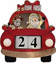 Christmas Countdown Adventskalender Auto Aus Holz